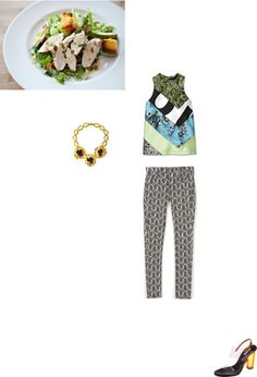 """Chicken salad"" by purism ❤ liked on Polyvore"