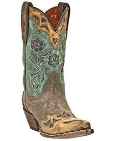 Dan Post Blue Bird Wingtip Cowgirl Boots - Snip Toe