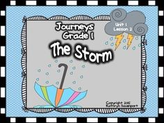 Welcome to Journeys- Unit 1 Lesson 2 which features the anchor story by Raul Colon titled The Storm.  These five hands-on and interactive activities enhance the key skills for this weeks lessons.  Use these activities in your literacy centers with  adult support or send black and white copies to parents for home support.