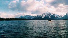 the-mountains-are-calling: Kayaking on Jackson lake.