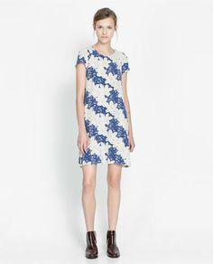 ASYMMETRIC PRINTED DRESS - Dresses - Woman - New collection | ZARA United Kingdom