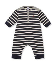 Combinaison bébé garçon en jersey lourd rayé