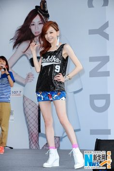 Chinese singer Cyndi Wang at autograph signing event in Taipei August 16, 2014