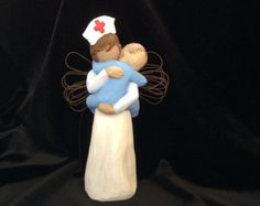 Pediatric Nurse RN Figurine  An Elegant Gift for a Nurse