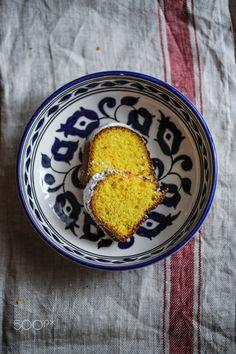 Slices of bundt cake