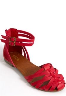 Mia Shoes Casual Red Huarache Sandals NM1733-RED