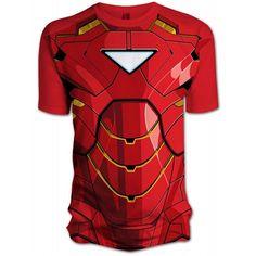 Marvel Comics Men's Iron Man 2 Comic Chest T-Shirt (Play.com Exclusive) (Red) - $17,49 - Cliquez sur l'image ou le lien pour vous rendre sur le site marchand. U':-r