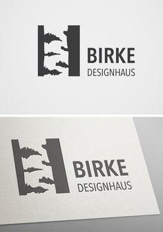 Logo für Birke Designhaus inspiriert durch den Firmenname. #logo #design #corporate design #branding #birke #Architektur #  architecture #designhouse | made with love in Stuttgart by www.smoco.de
