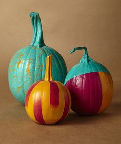 These modern pumpkin designs are easy to achieve. Get the easy DIY at RealSimple.com.