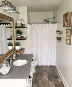 Bathroom Closet Without Doors #MinimalistBathroomZeroWaste #Masterbathroom #Bathroomideassmall