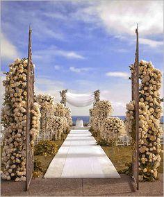 Wedding Aisle Decoration Design--also love