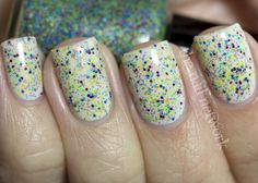 Pretty and Polished Sand Art swatch from The Nail Network.  I really love the mesh of colors.