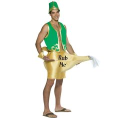 Oh Man will your fella wear this sexy Halloween Costume. Genie In The Lamp, Green, One Size Sexy couples Halloween Costume Halloween, Sexy Halloween Costumes For Men, Funny Halloween Masks, Cool Costumes, Halloween Costumes For Kids, Adult Costumes, Costume Ideas, Halloween Ideas, Halloween Stuff
