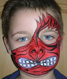 Red Dragon eye & mouth mask