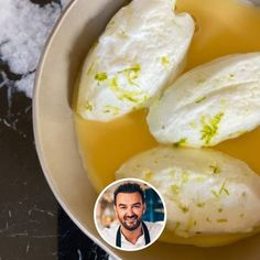 Lime eggs in snow, vanilla custard - Dessert Recipes Pudding Desserts, Custard Desserts, Banana Pudding Recipes, Lemon Desserts, Mary Berry, Magnolia Bakery Banana Pudding, Desserts For A Crowd, Gourmet Desserts, Vanilla Custard