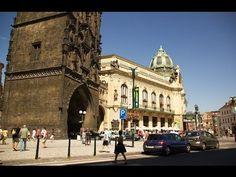 [Full HD] Altstadt Prag Ständetheater Pulverturm Mit Gemeindehaus Und Karls-Universität