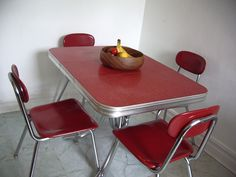 Formica table and vinyl chairs... this is getting close to what I'm after!
