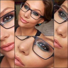 Makeup For Glasses: Dark Metallic Smokey with a Twist, by Hayley Kassel