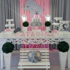 Aluguel de Decoração de Elefantinho Elephant Party, Elephant Theme, Elephant Baby Showers, Baby Elephant, Cute Baby Shower Ideas, Baby Shower Themes, Tarjetas Baby Shower Niña, Vintage Party, Baby Party
