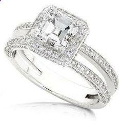 vintage wedding rings for women   ... engagement rings vintage Asscher Cut Diamond Engagement Rings
