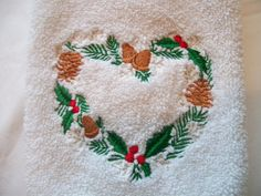 Holiday Wreath Hand Towel by LuvtoCustom on Etsy, $5.00