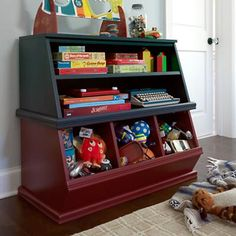 Shelfpalooza...what a great toy box/storage bin for the kids.  It's approximately $200...but it could probably be built for less.