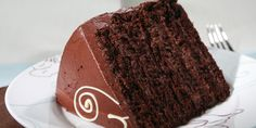 This cake, once assembled, has 6 cake layers, which means I like to use a LOT of frosting!  This frosting recipe freezes well, if there happens to be any extra. Makes 1 8-inch chocolate cake that will serve 12 to 16 people.