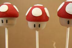Champignon Mario Super Mario Birthday, Mario Birthday Party, Super Mario Party, Birthday Parties, Mushroom Cake, Mario Bros Cake, Cake Pop Bouquet, Anime Cake, Friends Cake