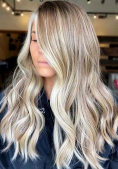 21 Fantastic Blonde Balayage Highlights in Year 2019 - Hair Color Ideas - Frisuren Blonde Balayage Highlights, Hair Color Balayage, Blonde Color, Ombre Hair Color, Blonde Balyage, Cool Blonde Balayage, Bayalage, Hair Color Highlights Blonde, Blonde Brunette Hair
