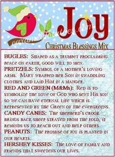 Christmas Blessing Mix Tag wm