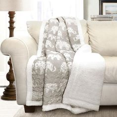 online shopping for Lush Decor Elephant Parade Throw Fuzzy Reversible Sherpa Blanket, x Gray White from top store. See new offer for Lush Decor Elephant Parade Throw Fuzzy Reversible Sherpa Blanket, x Gray White Elephant Blanket, Grey Elephant, Elephant Design, Elephant Stuff, Elephant Bedding, Elephant Room, Elephant Home Decor, Elephant Decorations, Elephant Pattern