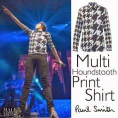George Shelley de Union J y su Multi houndstooth-print shirt de Paul Smith | Male Fashion Trends