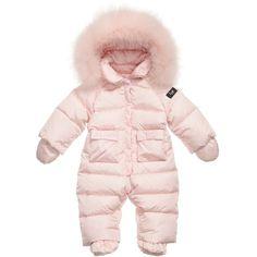 Il Gufo Baby Girls Pink Down Padded Snowsuit  at Childrensalon.com