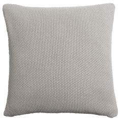 Knitted Cushion - Neutral Beige. The moss stitch knit of this neutral beige cushion is a fabulous way to add texture to your home, especially when it is teamed with our matching throw. From Sophie Allport.