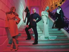 """Susan Orlean on the French designer Jean-Paul Gaultier. """"For more than thirty years, Gaultier has been known as the enfant terrible of fashion, but he is no longer an enfant, and, while he is still impish, he is also respectful of tradition."""" http://nyr.kr/1MckrjM (Photograph by Miles Aldridge)"""