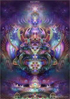 Digital art - Fractal art - New media art. Psychedelic Art, Psy Art, Visionary Art, Sacred Art, Fractal Art, Sacred Geometry, Fantasy Art, Cool Art, Digital Art