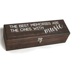 Store/Display Concert Tickets & Memorabilia The Best Memories Are The Ones With Music Memory Box Gifts For Music Lovers/Music Fans (Silver) Concert Ticket Display, Concert Ticket Gift, Gift For Music Lover, Music Lovers, Memorial Gifts, Stain Colors, Best Memories, Adhesive Vinyl, Shadow Box