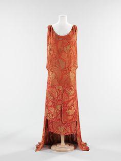Dress, Evening Bergdorf Goodman (American, founded 1899) Date: ca. 1929 Culture: American Medium: silk, metal