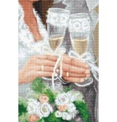 B2334 ЗАВИНАГИ ЗАЕДНО Wedding Cross Stitch, Beaded Cross Stitch, Counted Cross Stitch Kits, Diy Embroidery Kit, Beaded Embroidery, Cardboard Organizer, Cross Stitch Pictures, Embroidery Techniques, Fun Projects