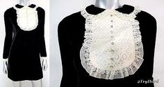 Fave baby doll dresses! |  Vintage 1960s Lace Bib Plush Jet Black Velvet Baby Doll Dress Sz S | eBay