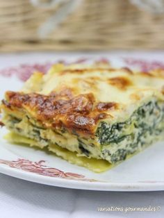 Variations Gourmandes: Lasagnes aux blettes, ricotta, parmesan et pignons
