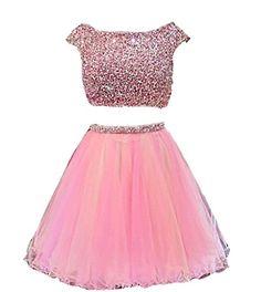 TDHQ Women's Jewel V Back Beaded Waistline Pearl Two Piece Tulle Homecoming Dress Pink US12 TDHQ http://www.amazon.com/dp/B013JLZIYE/ref=cm_sw_r_pi_dp_iPckwb1AH4SNC