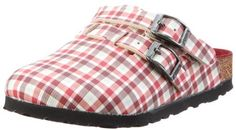 Birkis clogs Kay in size 26.0 N EU made of Birko-Flor in Check Red Beige with a narrow insole Birki's. $49.39. Birko-Flor