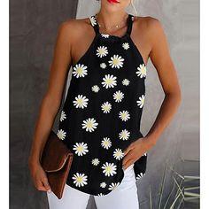 Boho Tops, Tops Halter, Halter Neck, Chic Type, Basic Tops, Mode Style, Tank Tops, Types Of Sleeves, Summer Tops