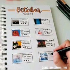 The ultimate collection of bullet journal header and title ideas for inspiration! Wether you're changing up your entire theme or just one spread, these awesome bullet journal header and title ideas will help you decorate with ease! Bullet Journal School, Bullet Journal Inspo, Bullet Journal Notebook, Bullet Journal Aesthetic, Pages Doodle, Diy Kalender, Art Journal Pages, Music Journal, Photo Journal