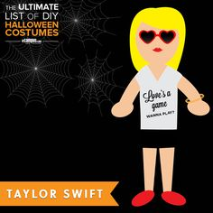 Who will you be this #Halloween? Taylor Swift?   See the DIY Taylor #costume idea +250 more: ecampusdot.com/1MUKey7