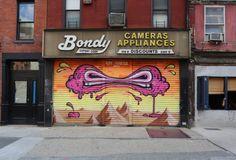 buff monster - Google Search Lower East Side, Metal Gates, Rabe, Outdoor Art, Chalk Art, Street Art, York Street, Being Ugly, New York City
