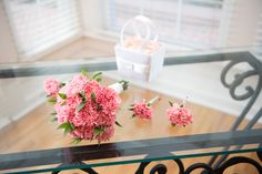 Carnation bouquet and buttonholes