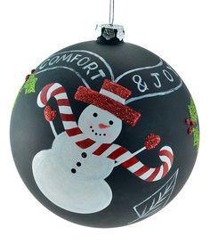 Look at this #zulilyfind! 'Comfort & Joy' Snowman Glass Ornament by The JWM Collection #zulilyfinds