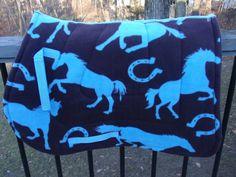 Wild Blue Horses Saddle Pad by SavvySaddlePads on Etsy, $37.50